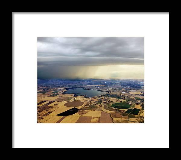 Tranquility Framed Print featuring the photograph Thunderstorm Over Denver, Colerado by Gail Shotlander