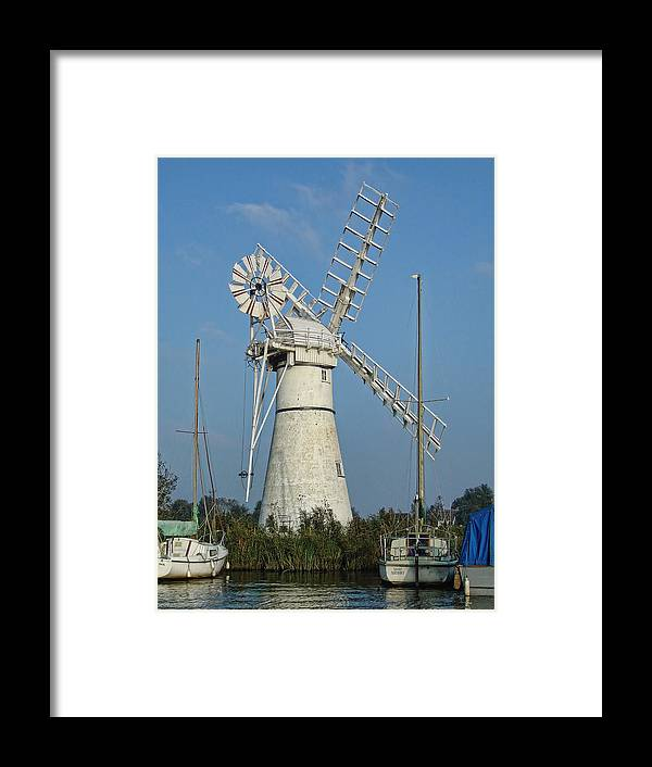 Thurne Windpump Framed Print featuring the photograph Thurne Windpump by Phyllis Taylor
