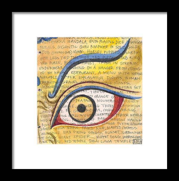 Tibetan Eye Framed Print by Jennifer Mazzucco