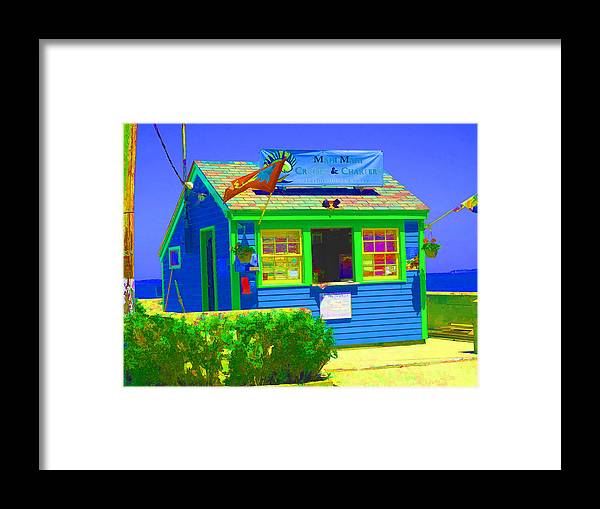 salem Willows Framed Print featuring the photograph Ticket Shack by Barbara McDevitt