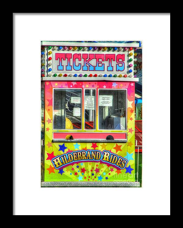 Ticket Framed Print featuring the photograph Tickets To Fun by Jaclyn Hughes Fine Art