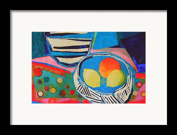 Mixed Media Still Life Framed Print featuring the mixed media Tiddly Winks by Diane Fine