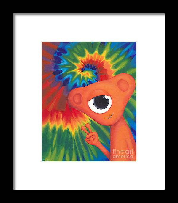 Tie Dye Persy Framed Print By Cori Pitcher