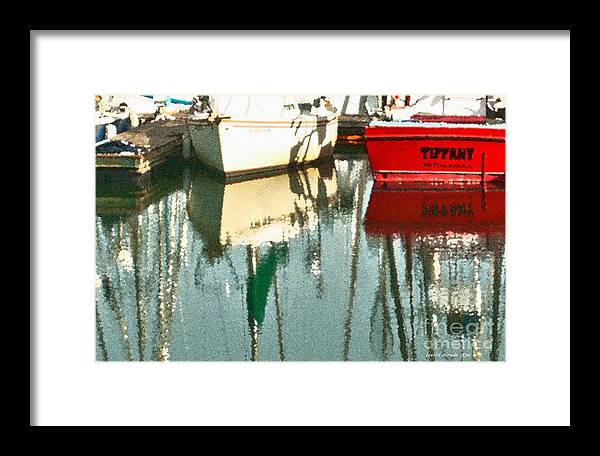 Boat Harbor Framed Print featuring the photograph Tiffany Sailed From San Francisco To Moss Landing by Artist and Photographer Laura Wrede