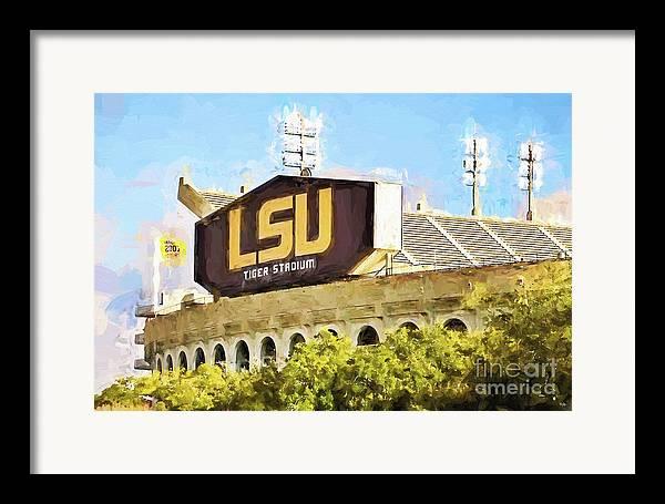Lsu Framed Print featuring the photograph Tiger Stadium by Scott Pellegrin