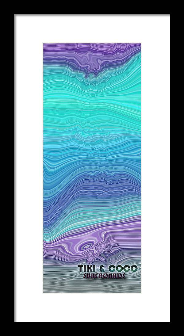 Framed Print featuring the digital art Tiki Coco by Coal