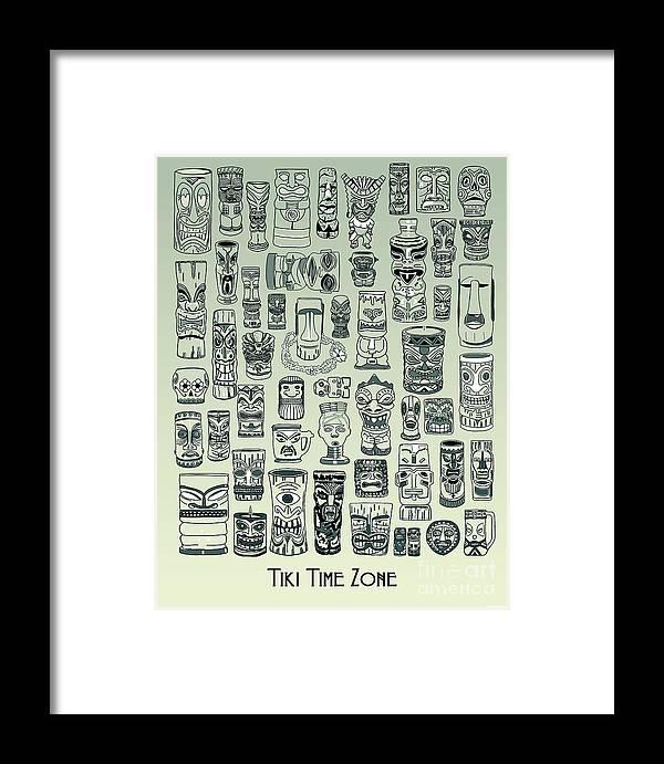 Ancient Relic Framed Print featuring the digital art Tiki Treasure Zone by Megan Dirsa-DuBois