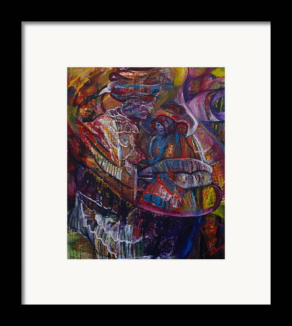 African Women Framed Print featuring the painting Tikor Woman by Peggy Blood