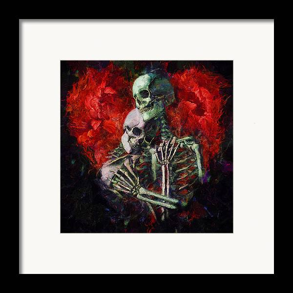 Love Framed Print featuring the painting Til Death by Christopher Lane