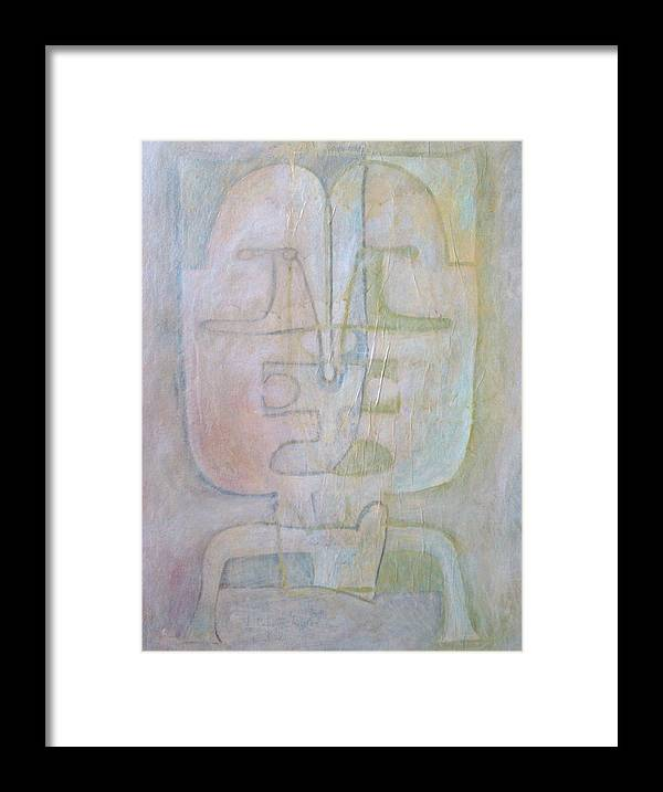 Abstract Faces Framed Print featuring the painting Till We Have Faces by W Todd Durrance