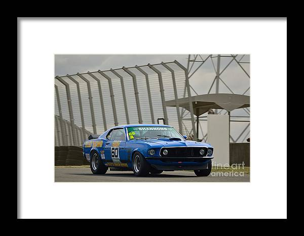 Mustang Framed Print featuring the photograph Tilley Racing Mustang by Stuart Row