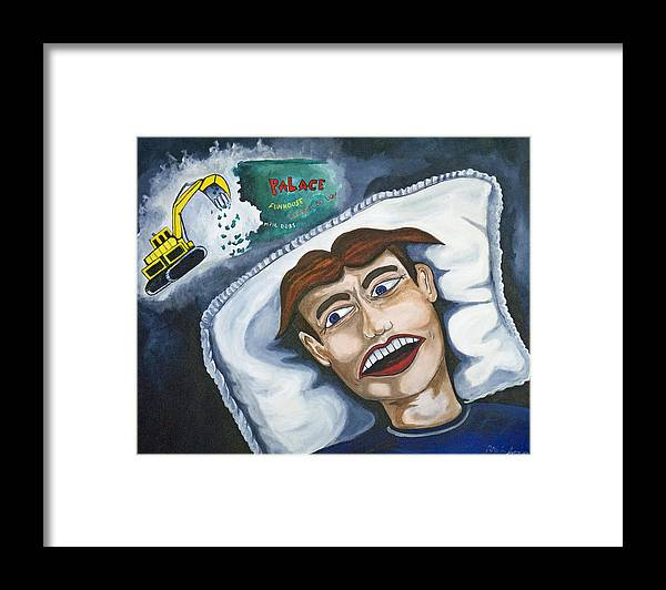 Asbury Park Framed Print featuring the painting Tillies Nightmare by Patricia Arroyo