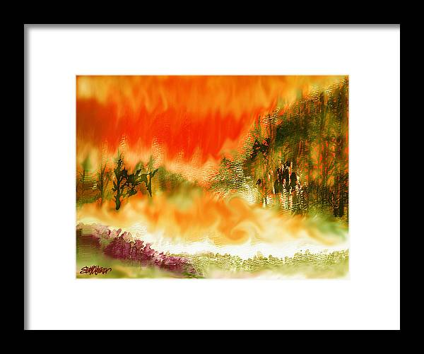 Timber Blaze Framed Print featuring the mixed media Timber Blaze by Seth Weaver