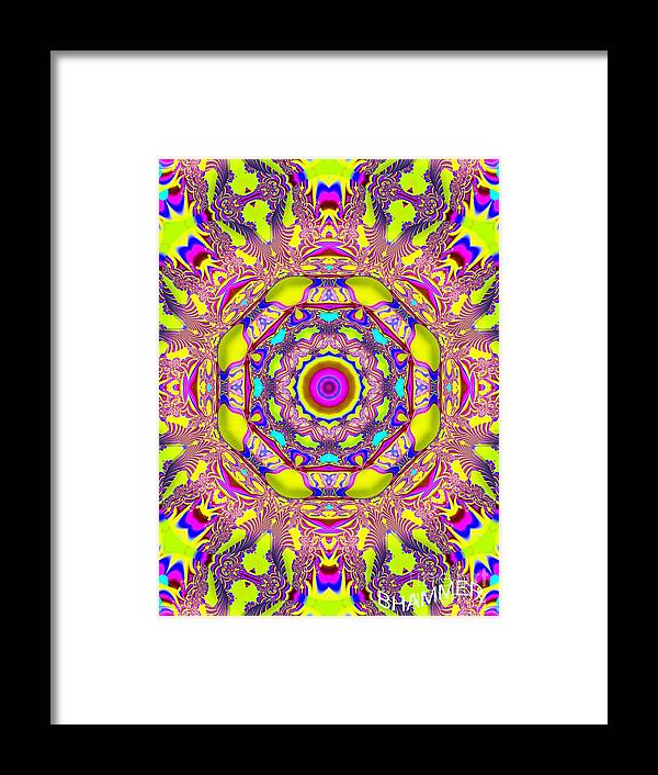 Colorful Bright Framed Print featuring the digital art Time Goes On by Bobby Hammerstone