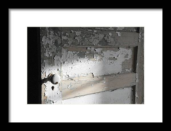Old Door Framed Print featuring the photograph time II by Leon Hollins III