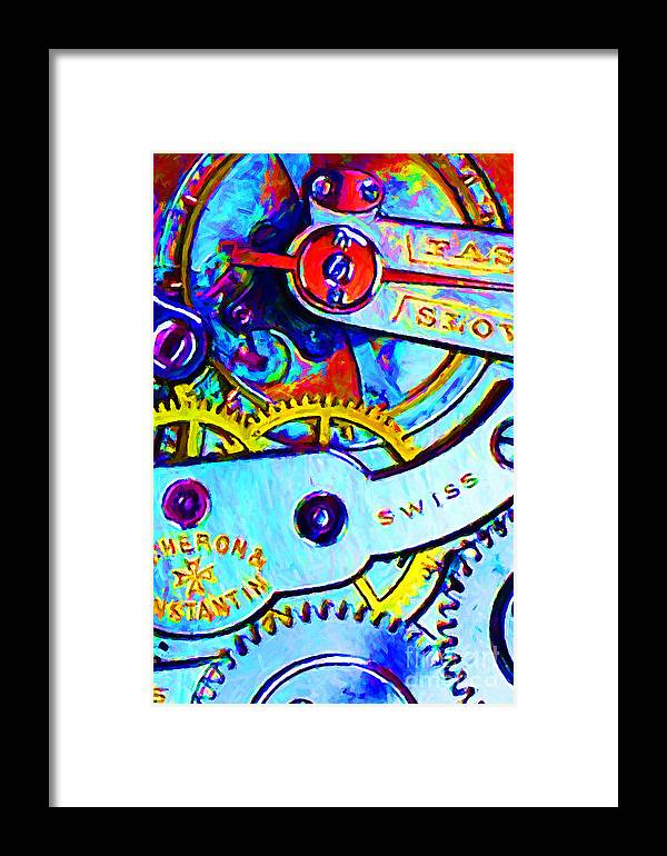 Steampunk Framed Print featuring the photograph Time In Abstract 20130605 by Wingsdomain Art and Photography