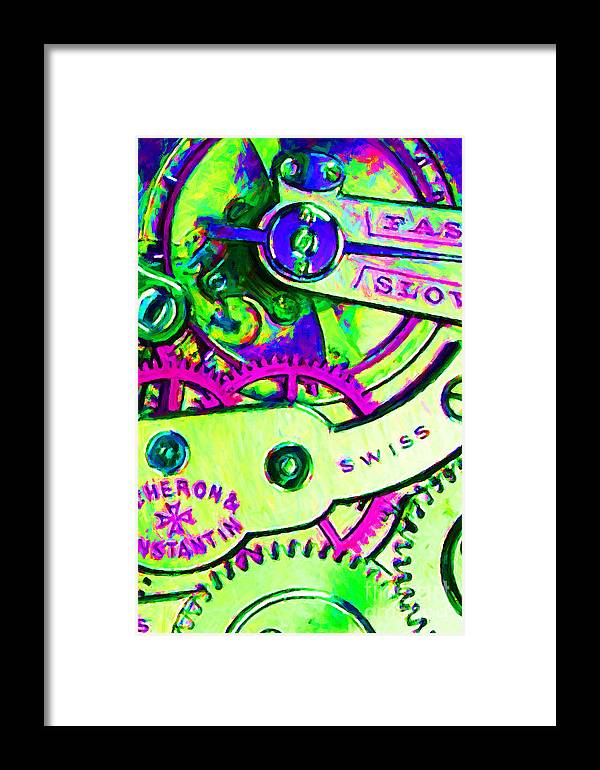 Steampunk Framed Print featuring the photograph Time In Abstract 20130605m108 by Wingsdomain Art and Photography