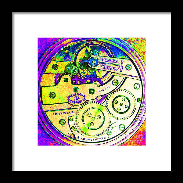 Steampunk Framed Print featuring the photograph Time In Abstract 20130605m144 Square by Wingsdomain Art and Photography