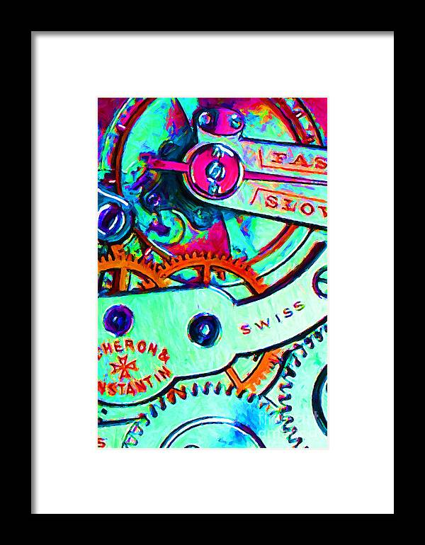 Steampunk Framed Print featuring the photograph Time In Abstract 20130605m36 by Wingsdomain Art and Photography