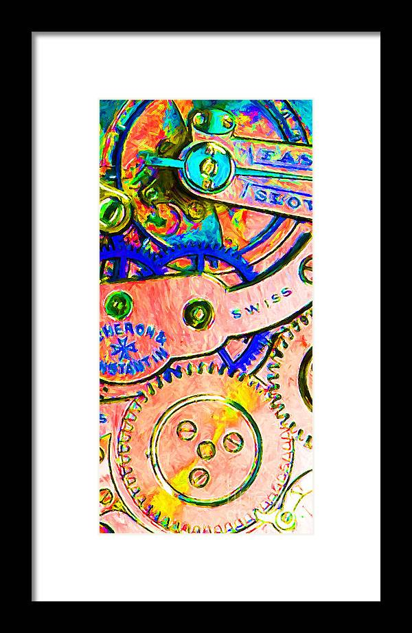 Steampunk Framed Print featuring the photograph Time In Abstract 20130605p180 Long by Wingsdomain Art and Photography