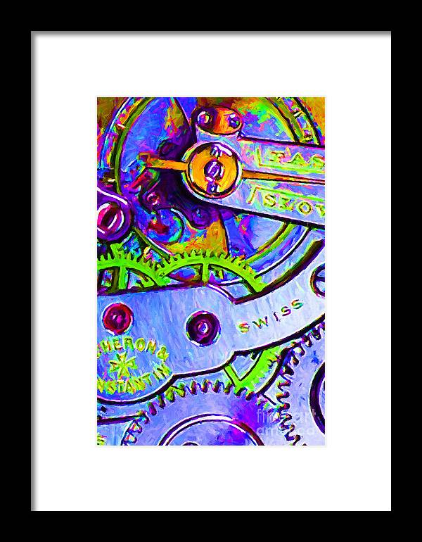 Steampunk Framed Print featuring the photograph Time In Abstract 20130605p36 by Wingsdomain Art and Photography