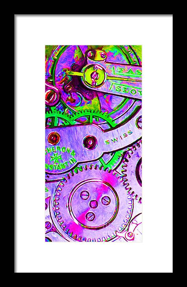 Steampunk Framed Print featuring the photograph Time In Abstract 20130605p72 Long by Wingsdomain Art and Photography