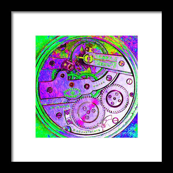 Steampunk Framed Print featuring the photograph Time In Abstract 20130605p72 Square by Wingsdomain Art and Photography