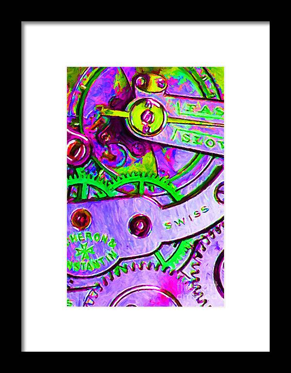 Steampunk Framed Print featuring the photograph Time In Abstract 20130605p72 by Wingsdomain Art and Photography