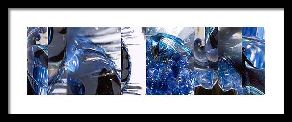 Abstract Framed Print featuring the photograph Time Line in Blue by Steve Karol