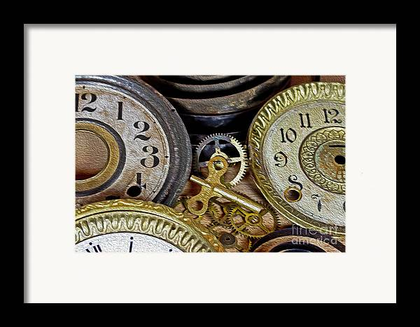 Time Framed Print featuring the photograph Time Long Gone by Tom Gari Gallery-Three-Photography