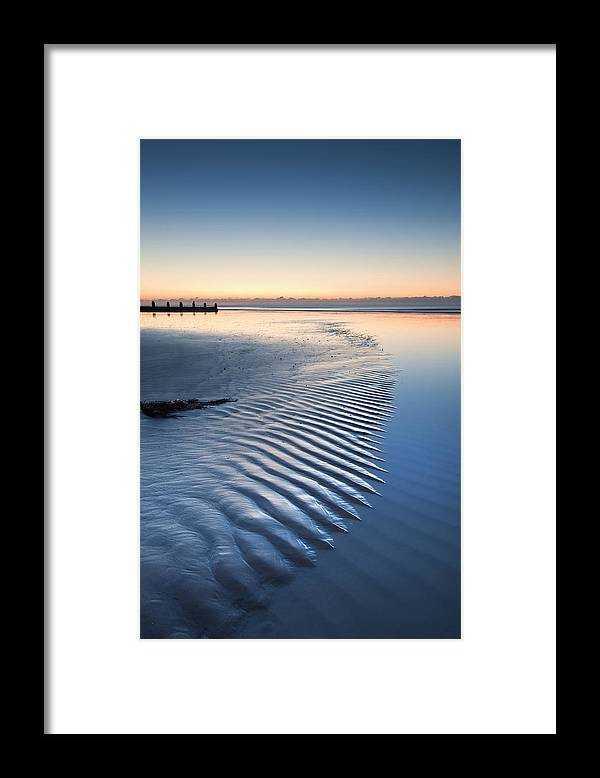 Beach Framed Print featuring the photograph Time by Matthew Gibson