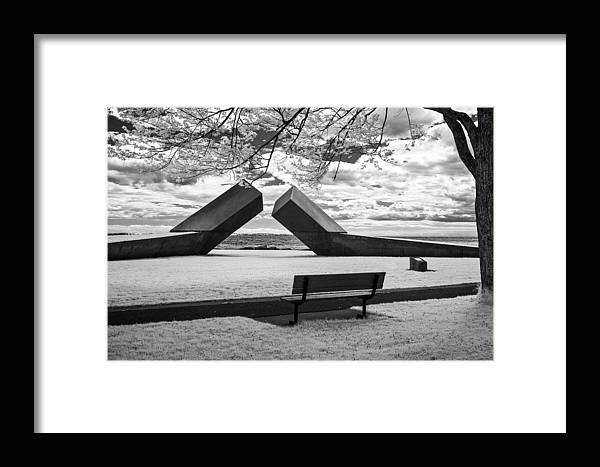 Infrared Framed Print featuring the photograph Time Sculpture - Infrared by Nicole Couture-Lord