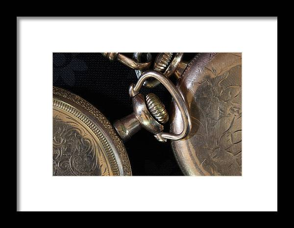 Watch Framed Print featuring the photograph Time Squared 1 by Mary Bedy