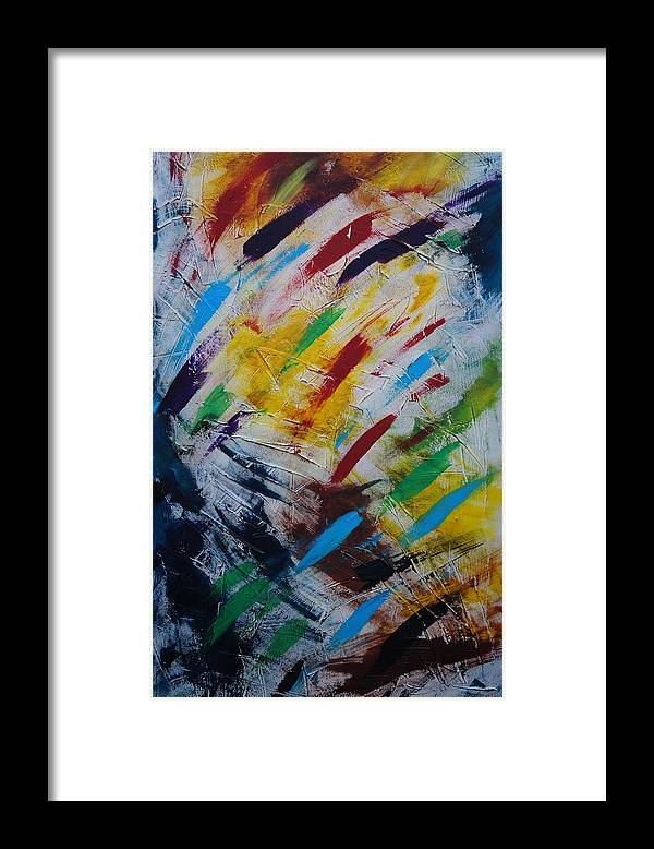 Abstract Framed Print featuring the painting Time stands still by Sergey Bezhinets