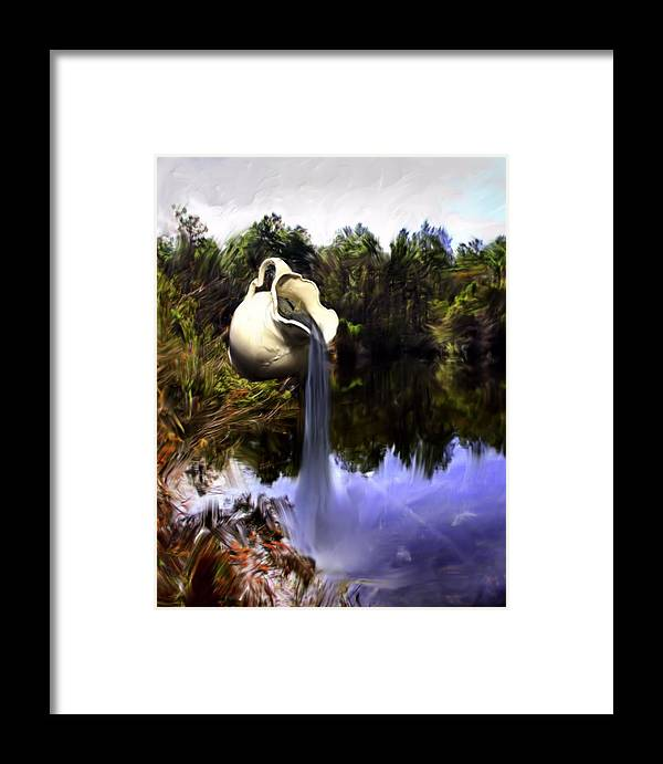 Water Framed Print featuring the photograph Time To Refresh by Cheryl Frischkorn