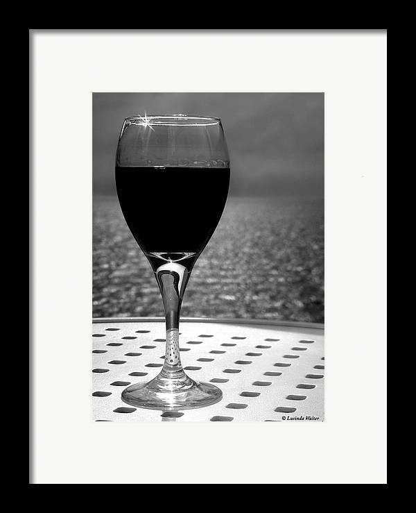 Wine Framed Print featuring the photograph Time To Relax by Lucinda Walter