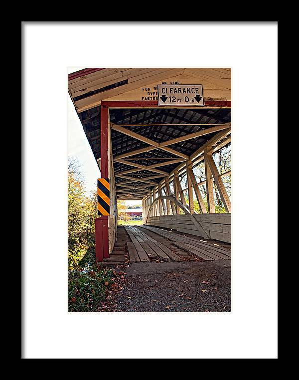 Turner's Covered Bridge Framed Print featuring the photograph Time Travel by Steve Harrington