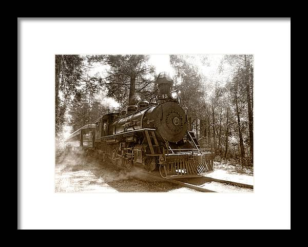 Locomotive Framed Print featuring the photograph Time Traveler by Donna Blackhall