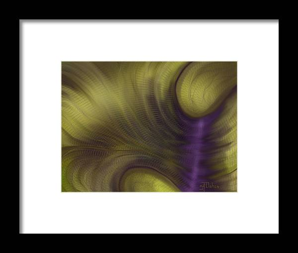 Gold Framed Print featuring the digital art Time Warp by Anita Duhon