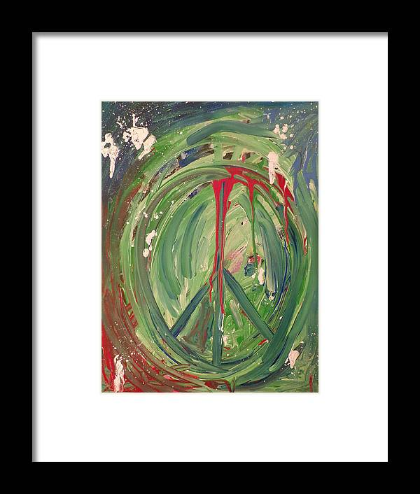 Peace Framed Print featuring the painting Time Warp by Katie Robertson