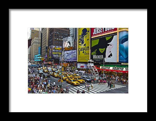 Timessquare Framed Print featuring the photograph Times Square by Galexa Ch