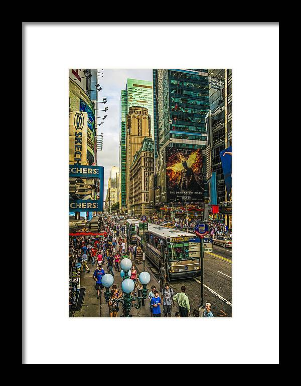New York Framed Print featuring the photograph Times Square by Theodore Jones