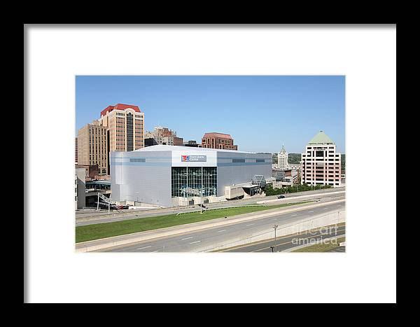 New York Framed Print featuring the photograph Times Union Center by Bill Cobb