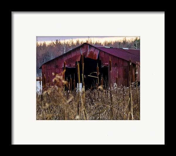 Tin Framed Print featuring the photograph Tin Roof Rusted by Bill Cannon