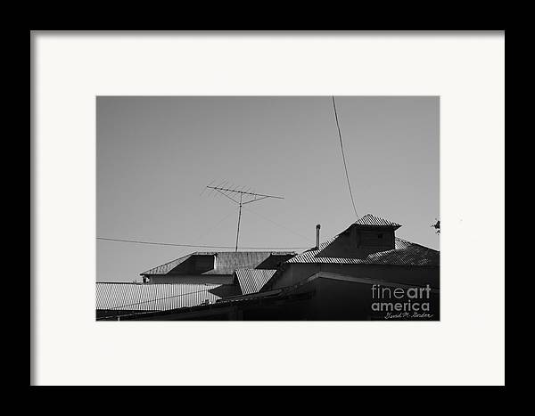 Tin Framed Print featuring the photograph Tin Rooftops Chimayo New Mexico by David Gordon