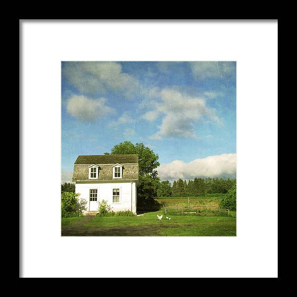 Tranquility Framed Print featuring the photograph Tiny Country House by Francois Dion