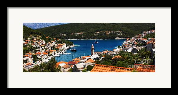 Rooftop Framed Print featuring the photograph Tiny Inlet by Andrew Paranavitana
