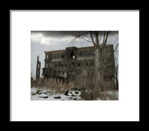 Snow Framed Print featuring the photograph Where All The Tires Go by Gothicrow Images