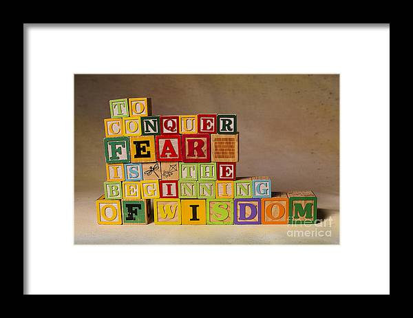To Conquer Fear Is The Beginning Of Wisdom Framed Print featuring the photograph To Conquer Fear Is The Beginning Of Wisdom by Art Whitton