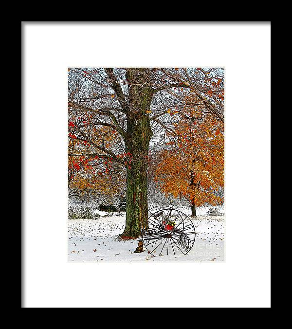 Berry Framed Print featuring the drawing To everything there is a season... by Diane E Berry